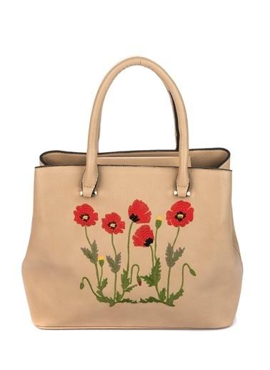 Çiçek Desenli Kol Çantası-Gio&Mi